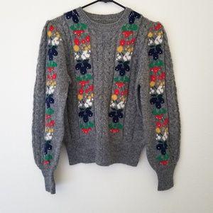 Vintage 80s Fruit Stripe Sweater